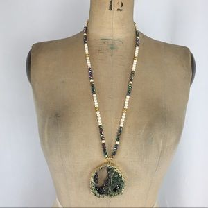 3/$25 Stone Look Statement Beaded Necklace